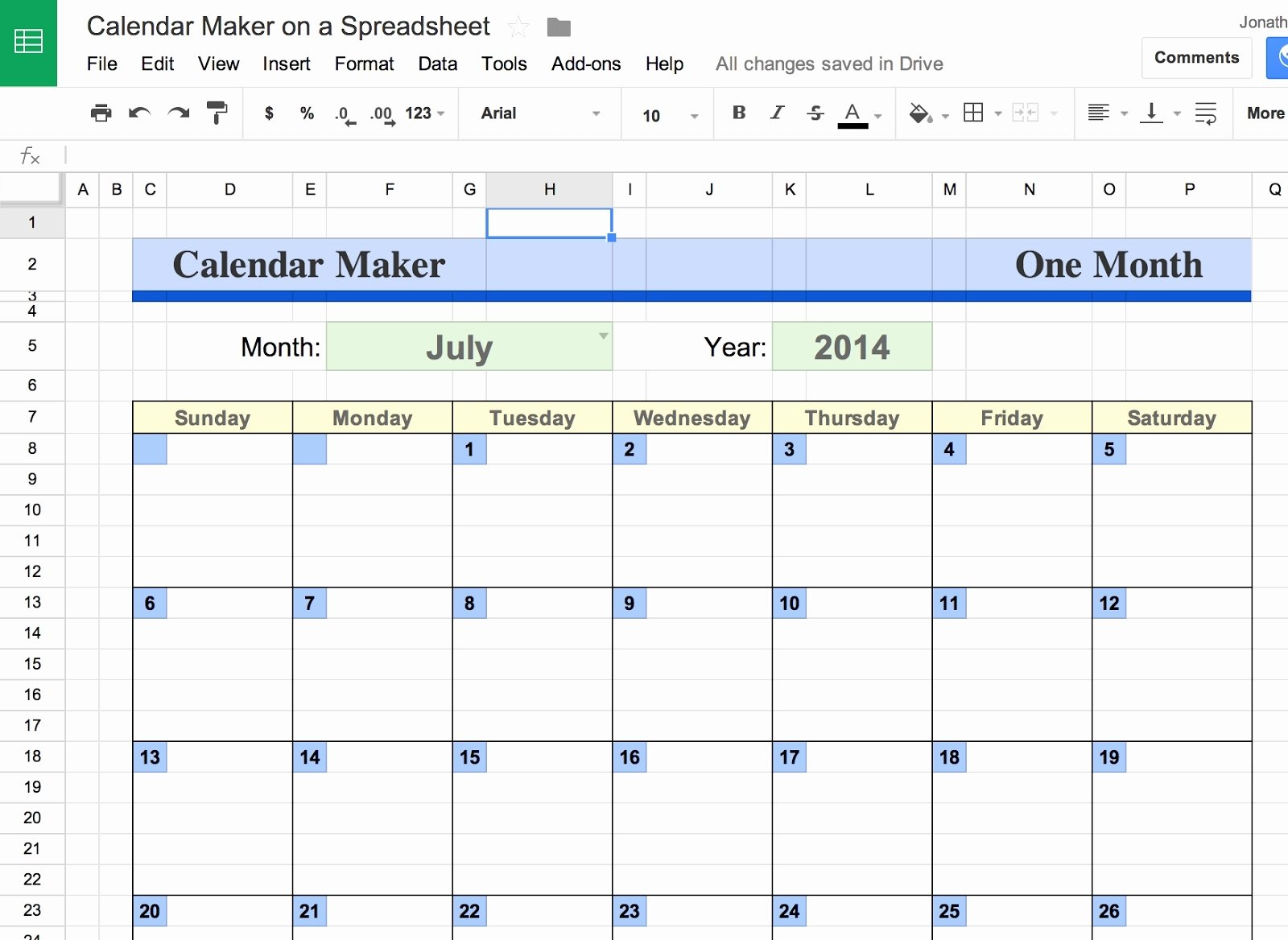 Google Docs Excel Template Elegant Google Docs Calendar Spreadsheet Template