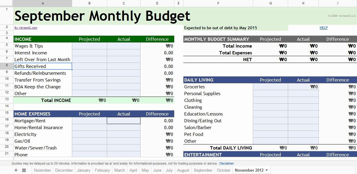 Google Docs Excel Template Lovely Google Bud Spreadsheet – 10 Money Management tools