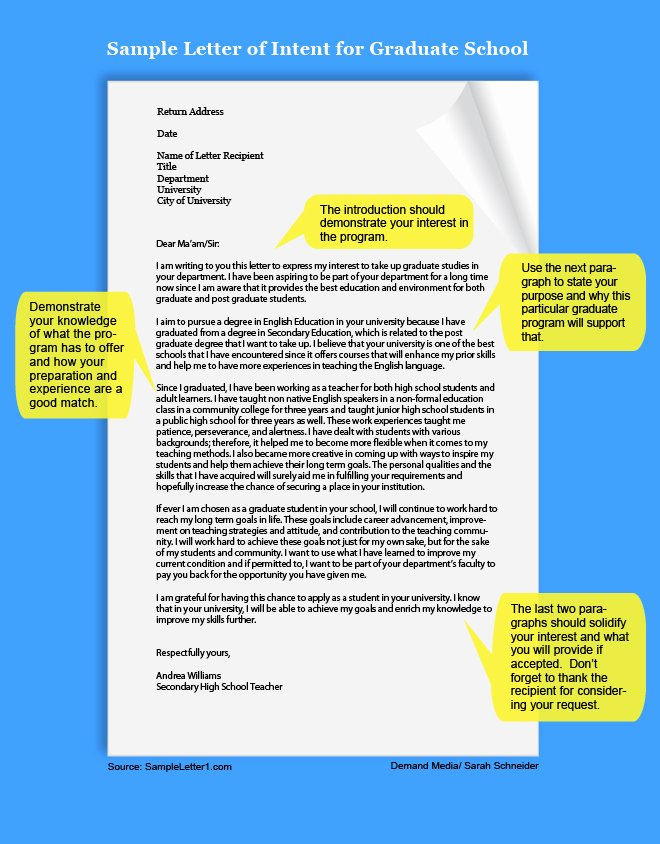 Graduate Letter Of Intent Sample Awesome How to Write A Letter Of Intent for Graduate School