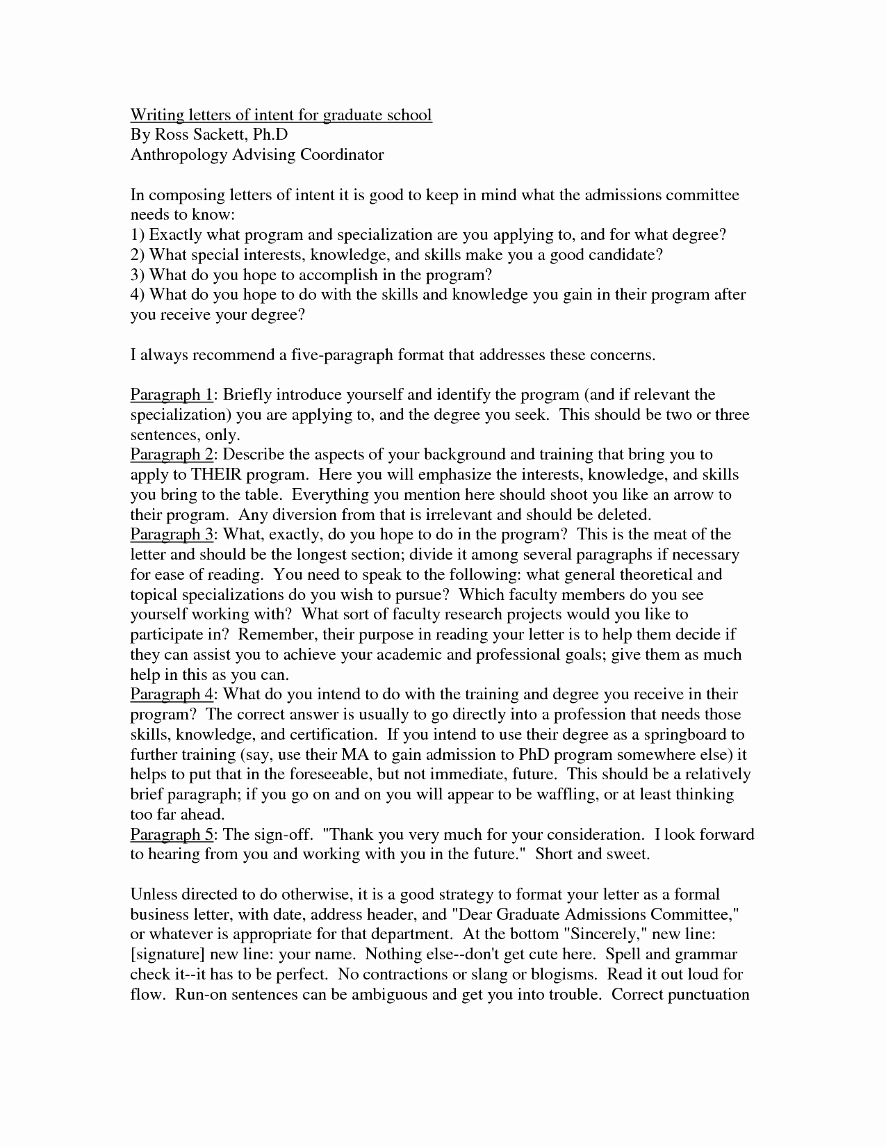 Graduate Letter Of Intent Sample Beautiful Best S Of Masters Degree Letter Intent Sample