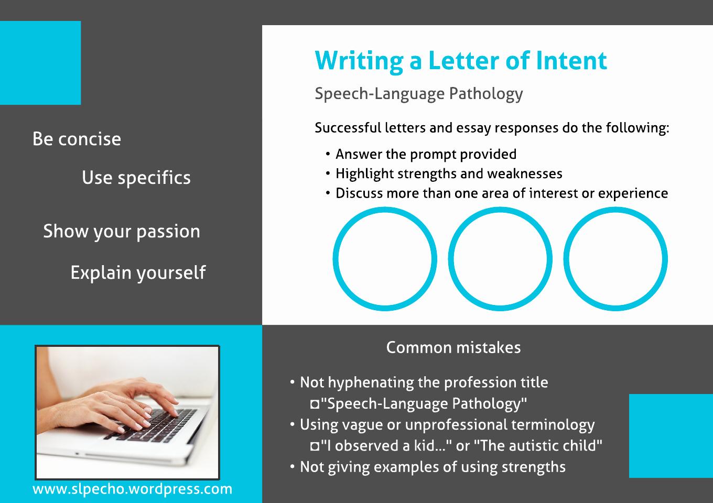 Graduate Letter Of Intent Sample Inspirational Speech Language Pathology – Slp Echo