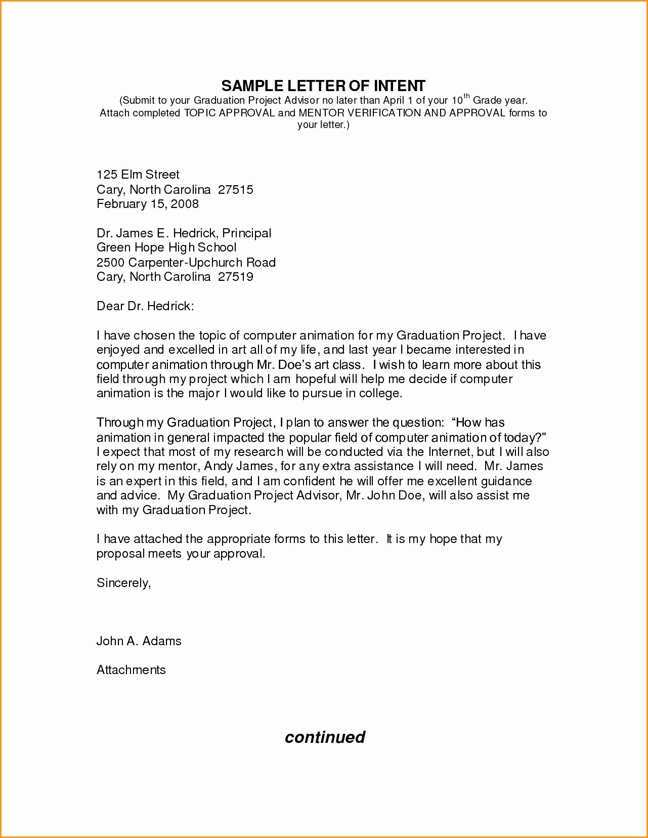 Graduate Letter Of Intent Sample Unique ️ Sample Letter Of Intent for Graduate Program How to
