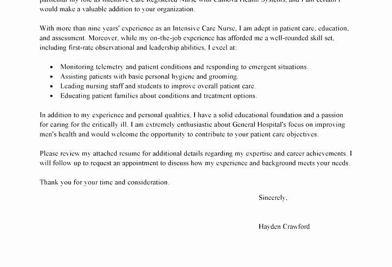 Graduate Nurse Cover Letter Examples Unique 15 Rn Cover Letter
