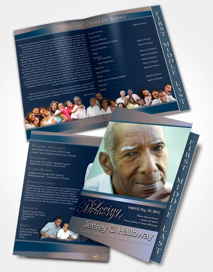 Graduated Fold Program Template Free Awesome 2 Page Graduated Step Fold Funeral Program Template