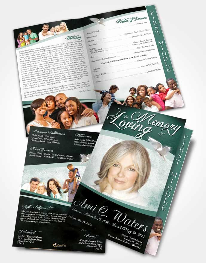 Graduated Fold Program Template Free Best Of 2 Page Graduated Step Fold Funeral Program Template