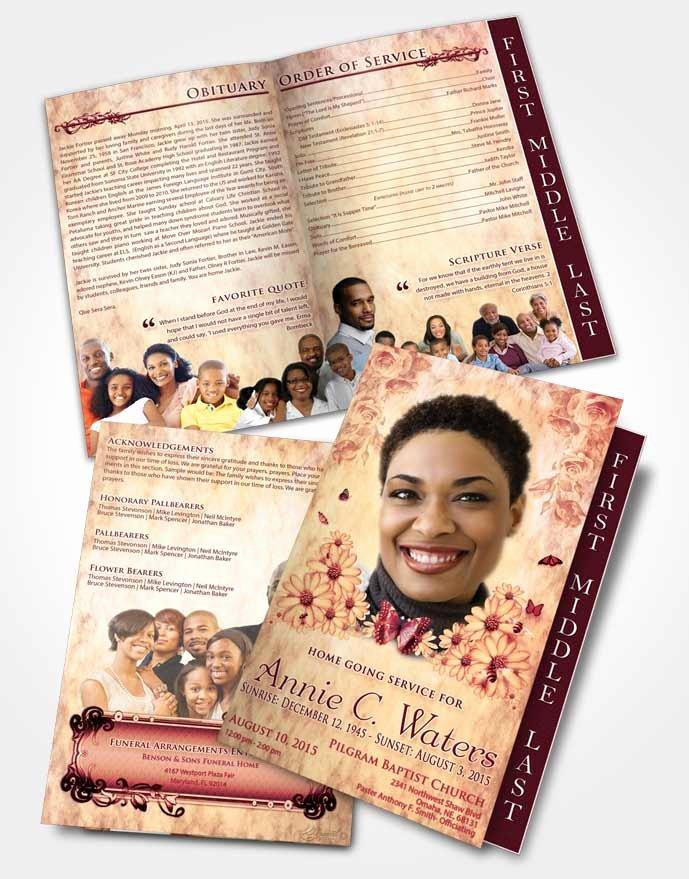 Graduated Fold Program Template Free Elegant 2 Page Graduated Step Fold Funeral Program Template