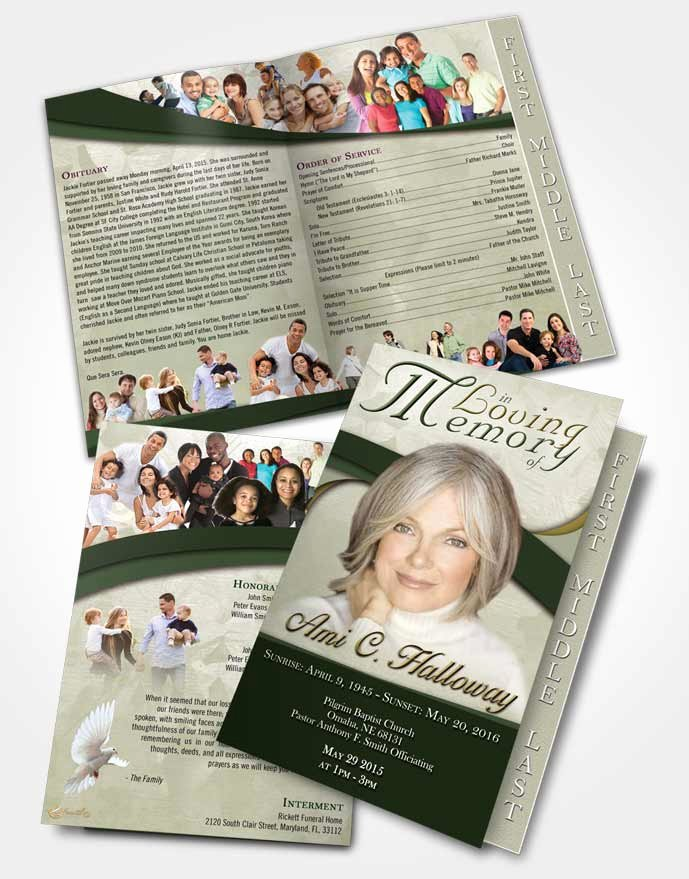 Graduated Fold Program Template Free Fresh 2 Page Graduated Step Fold Funeral Program Template