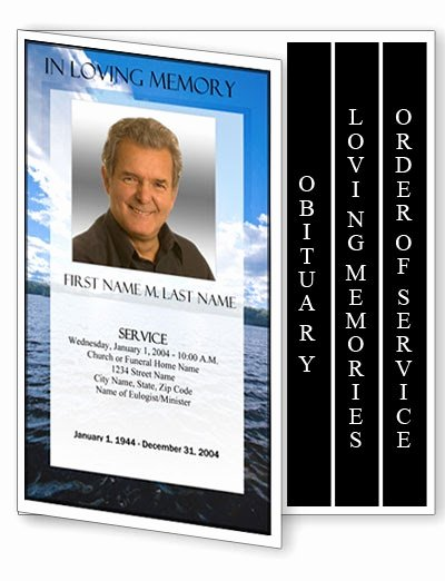 Graduated Fold Program Template Free Fresh Obituary Template 4 Page Graduated Fold Obituary Program