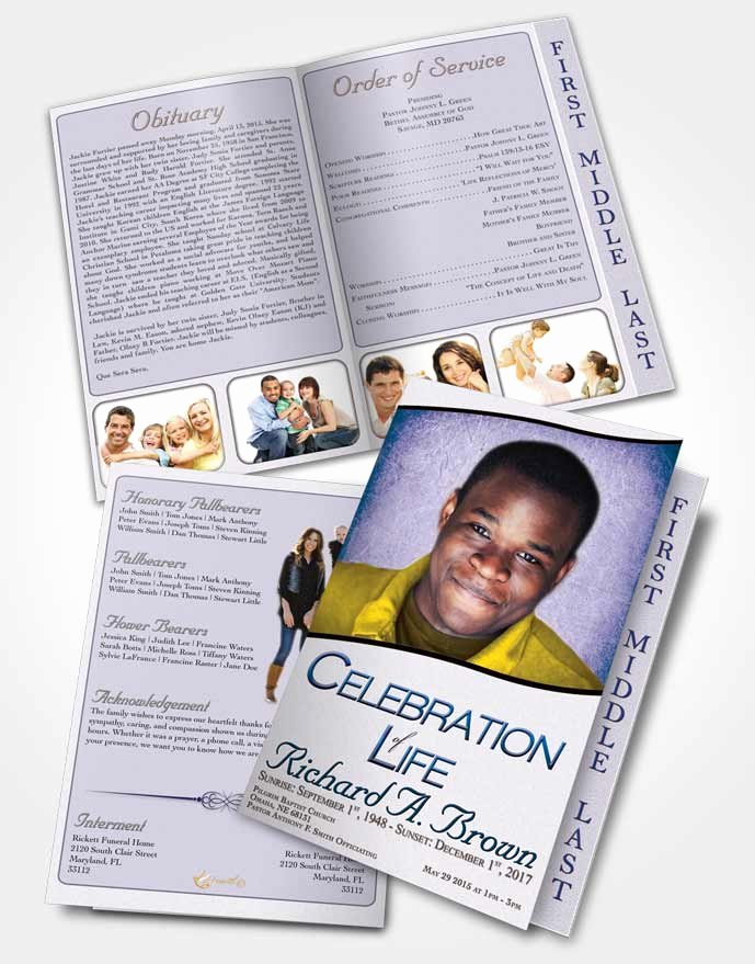 Graduated Fold Program Template Free Lovely 2 Page Graduated Step Fold Funeral Program Template
