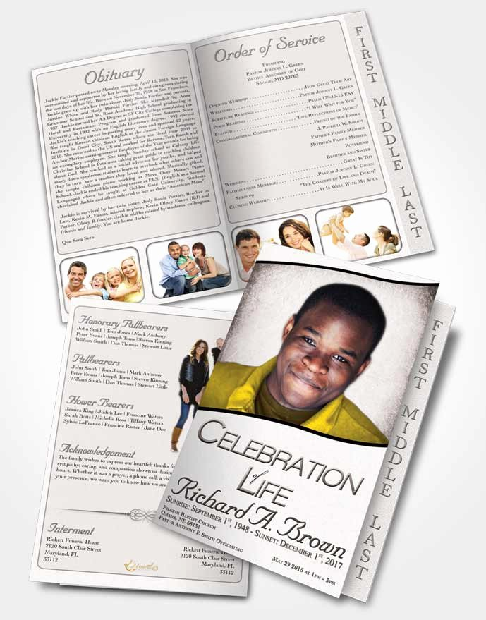 Graduated Fold Program Template Free Luxury 2 Page Graduated Step Fold Funeral Program Template