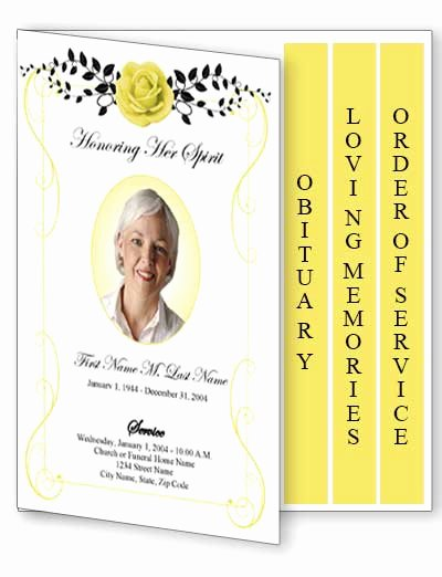 Graduated Fold Program Template Free Luxury Beloved Vintage Rose Funeral Program Template 4 Page