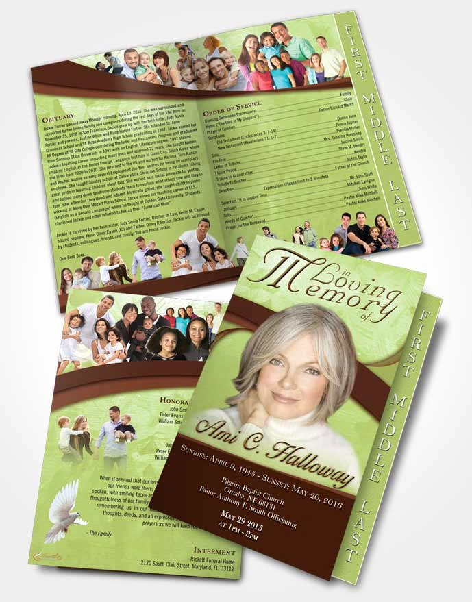 Graduated Fold Program Template Free New 2 Page Graduated Step Fold Funeral Program Template