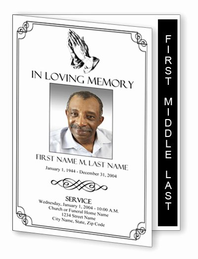 Graduated Fold Program Template Free New Funeral Program Template