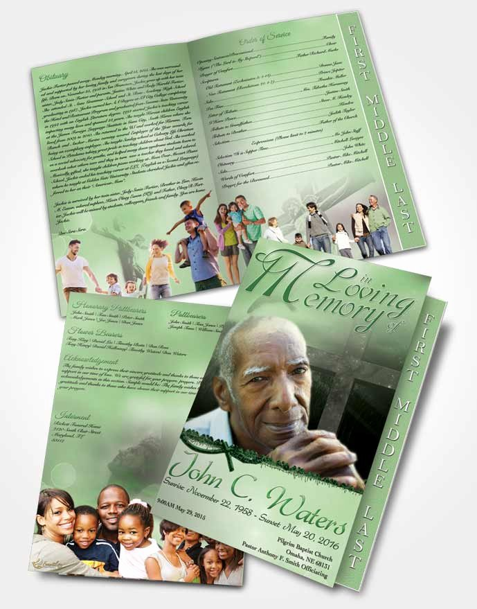 Graduated Fold Program Template Free Unique 2 Page Graduated Step Fold Funeral Program Template