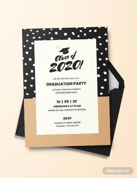 Graduation Ceremony Invitation Card Beautiful 42 Printable Graduation Invitations Psd Ai Word
