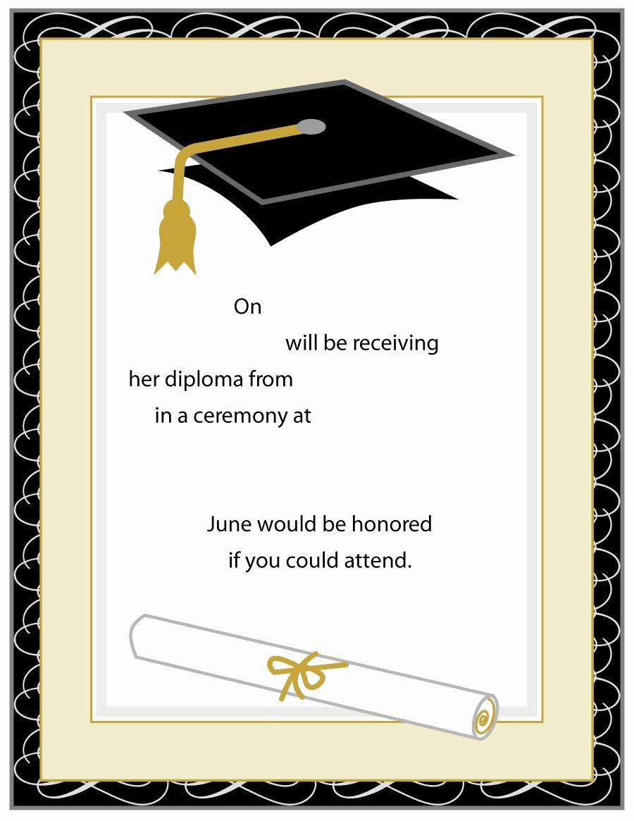 Graduation Ceremony Invitation Card Best Of 40 Free Graduation Invitation Templates Template Lab