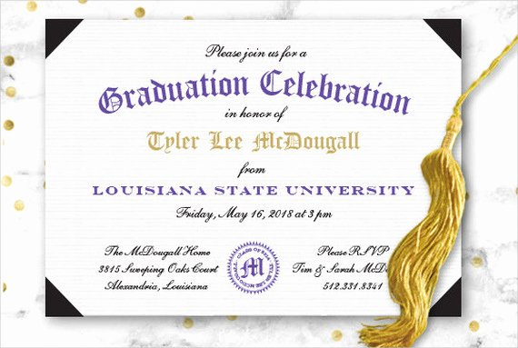 Graduation Ceremony Invitation Card Best Of 49 Graduation Invitation Designs & Templates Psd Ai