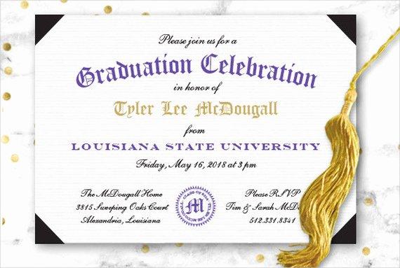 Graduation Ceremony Invitation Card Best Of 49 Graduation Invitation Designs & Templates Psd Ai