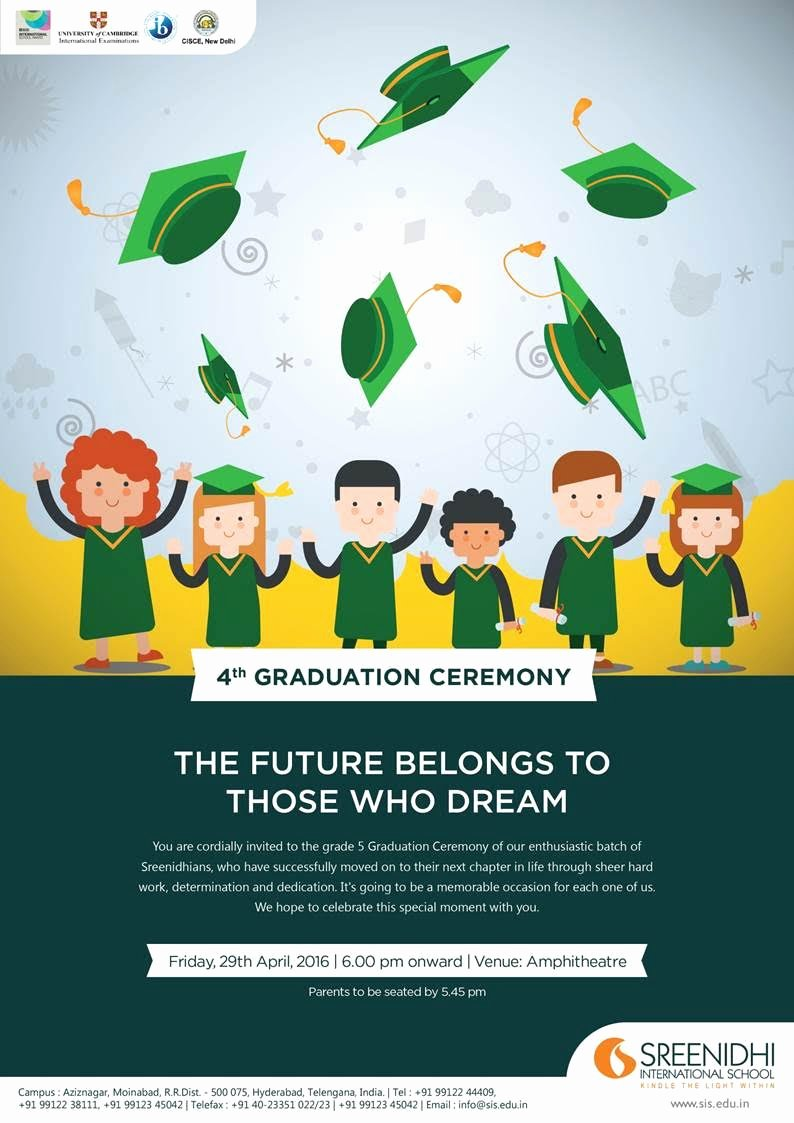 Graduation Ceremony Invitation Card Best Of Sreenidhi International School
