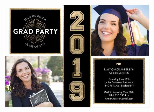 Graduation Ceremony Invitation Card Elegant Graduation Invitations Grad Party Invites