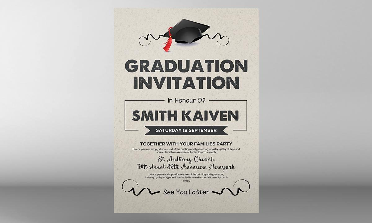 Graduation Ceremony Invitation Card Fresh Graduation Invite Cards Graduation Ceremony Invitation