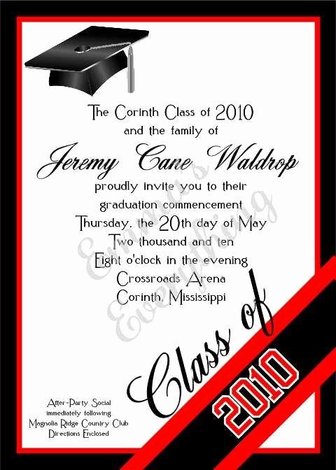 Graduation Ceremony Invitation Card Fresh Los Matadors Clase De 2018 Y La Familia De Sara Lopez Los
