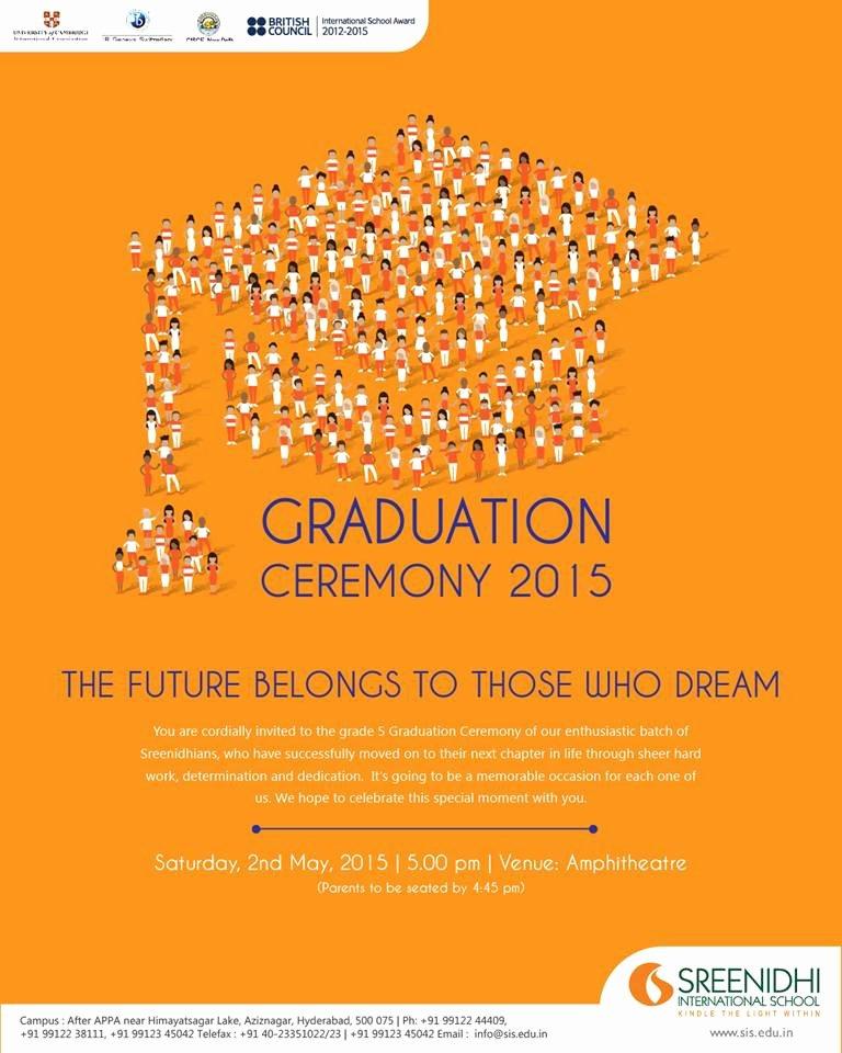 Graduation Ceremony Invitation Card Fresh Sreenidhi International School