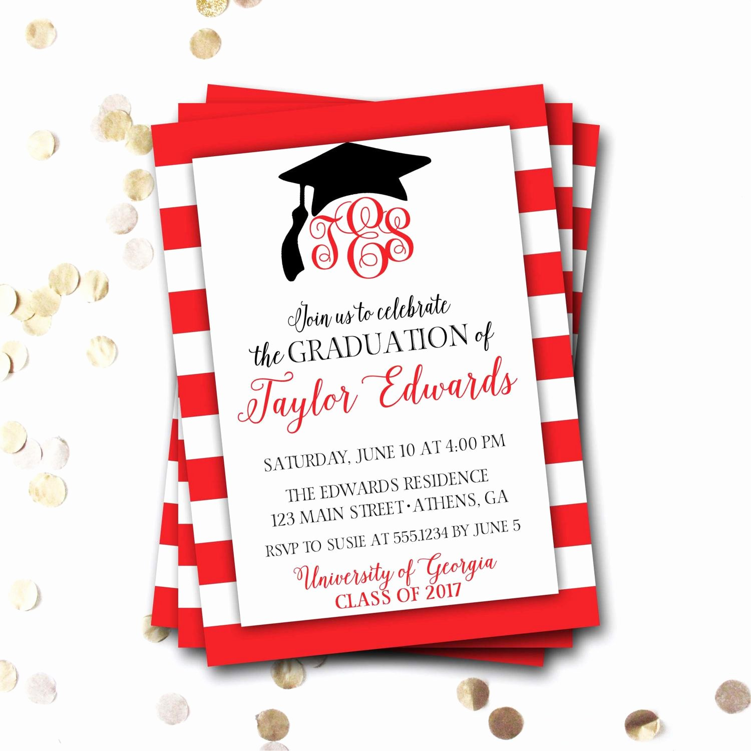 Graduation Ceremony Invitation Card Inspirational Graduation Invitation Graduation Invitation Cards