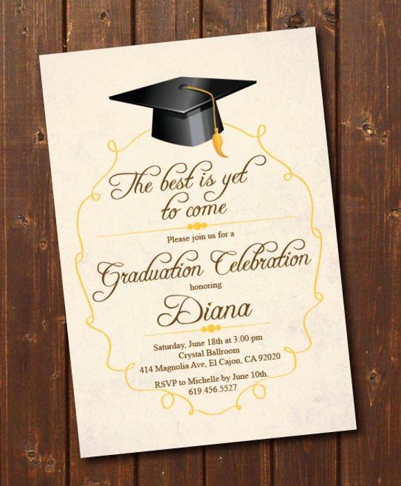 Graduation Ceremony Invitation Card Lovely Invitation Card for Graduation Day
