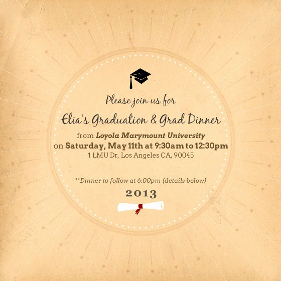 Graduation Ceremony Invitation Card Luxury Elia S Mencement Ceremony & Graduation Dinner Line