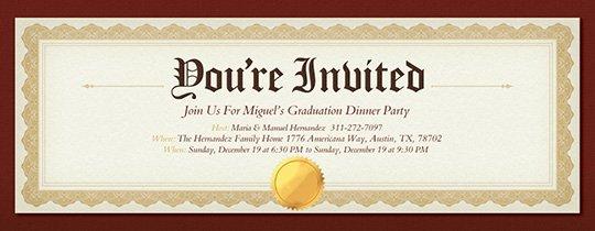 Graduation Ceremony Invitation Card New Free Graduation Party Invitations