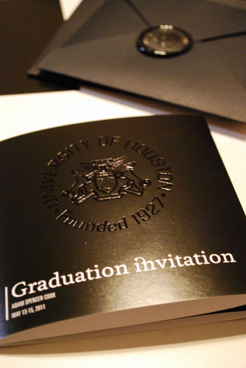 Graduation Ceremony Invitation Card Unique Adam S Modern Black and White Graduation Invitations