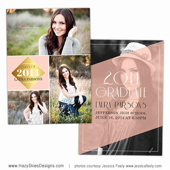 Graduation Invitation Cards Free Awesome Items Similar to Senior Graduation Announcement Card