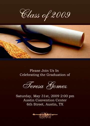 Graduation Invitation Cards Free Best Of Free Graduation Invitation Templates for Word to Inspire