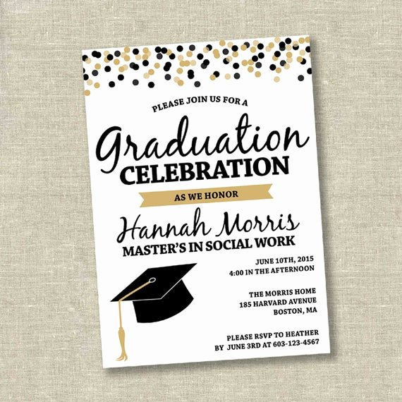 Graduation Invitation Cards Free Best Of Graduation Invitation College Graduation Invitation High