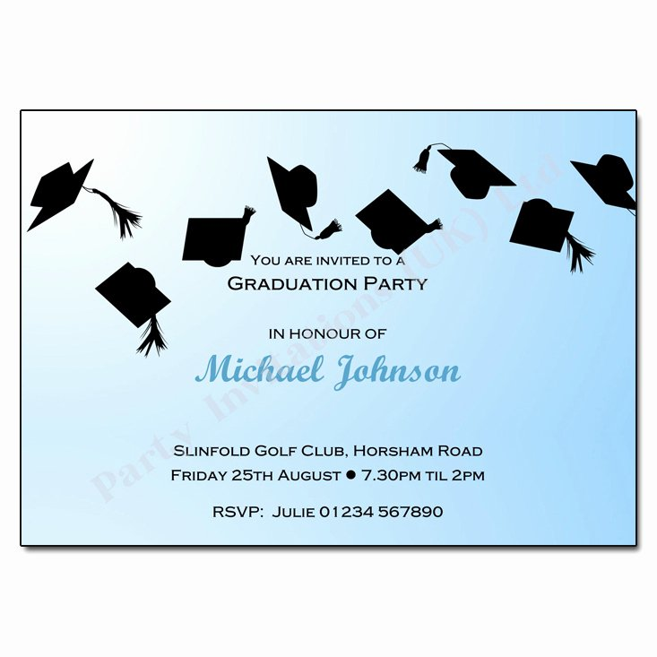 Graduation Invitation Cards Free Best Of Hats F Graduation Party Invitation