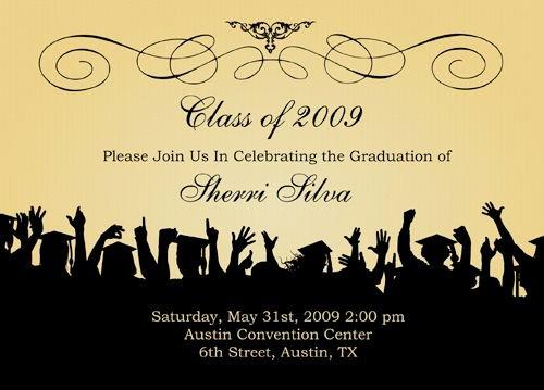 Graduation Invitation Cards Free Elegant Free Graduation Templates S