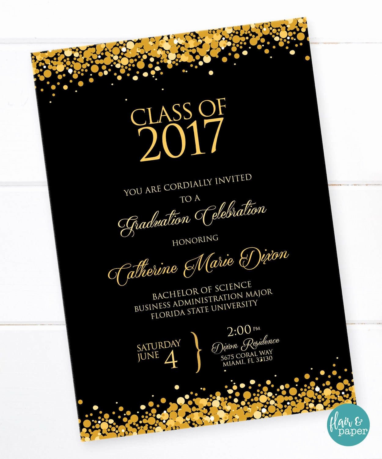 Graduation Invitation Cards Free Elegant Graduation Invitation Graduation Celebration College