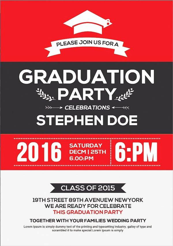 Graduation Invitation Cards Free Fresh 48 Sample Graduation Invitation Designs & Templates Psd