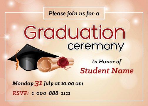 Graduation Invitation Cards Free Inspirational Graduation Party Invitation Cards for Ms Word