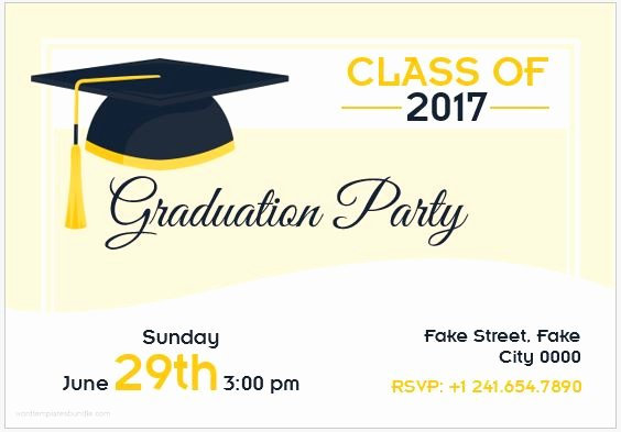 Graduation Invitation Cards Free Lovely 10 Best Graduation Party Invitation Card Templates Ms Word