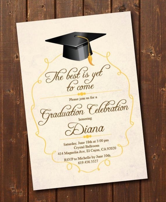 Graduation Invitation Cards Free Lovely Class Of 2018 High School College Graduation Invitation Card