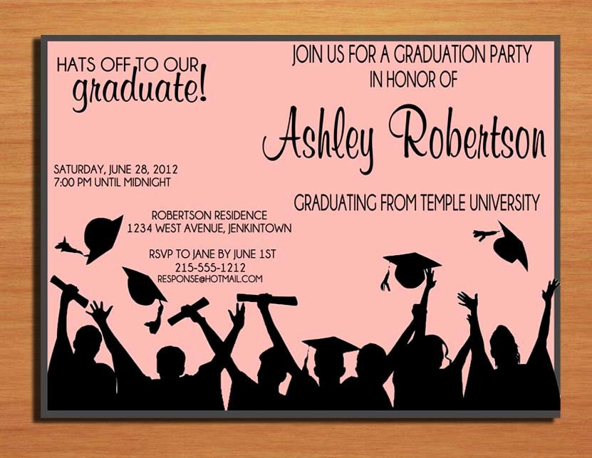 Graduation Invitation Cards Free New Hat toss Graduation Party Invitation Cards Printable Diy