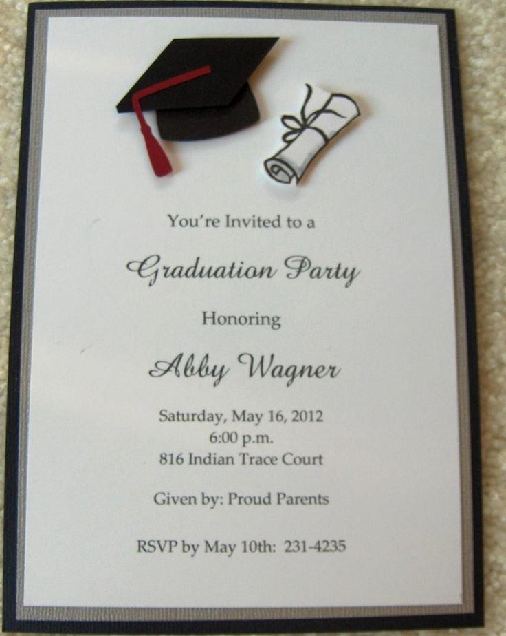 Graduation Invitation Cards Free Unique 17 Best Images About Graduation Announcements On Pinterest