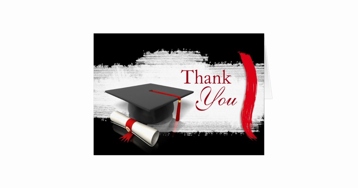 Graduation Present Thank You Note Elegant Modern Graduation Thank You Notes