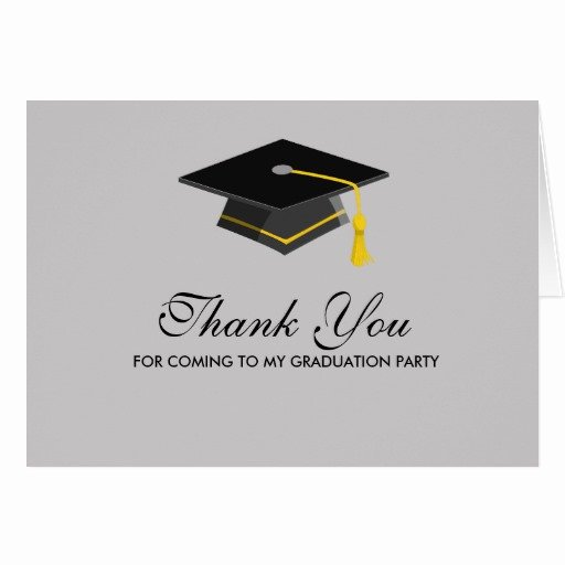 Graduation Present Thank You Note Fresh Black Cap Graduation Thank You Note Card