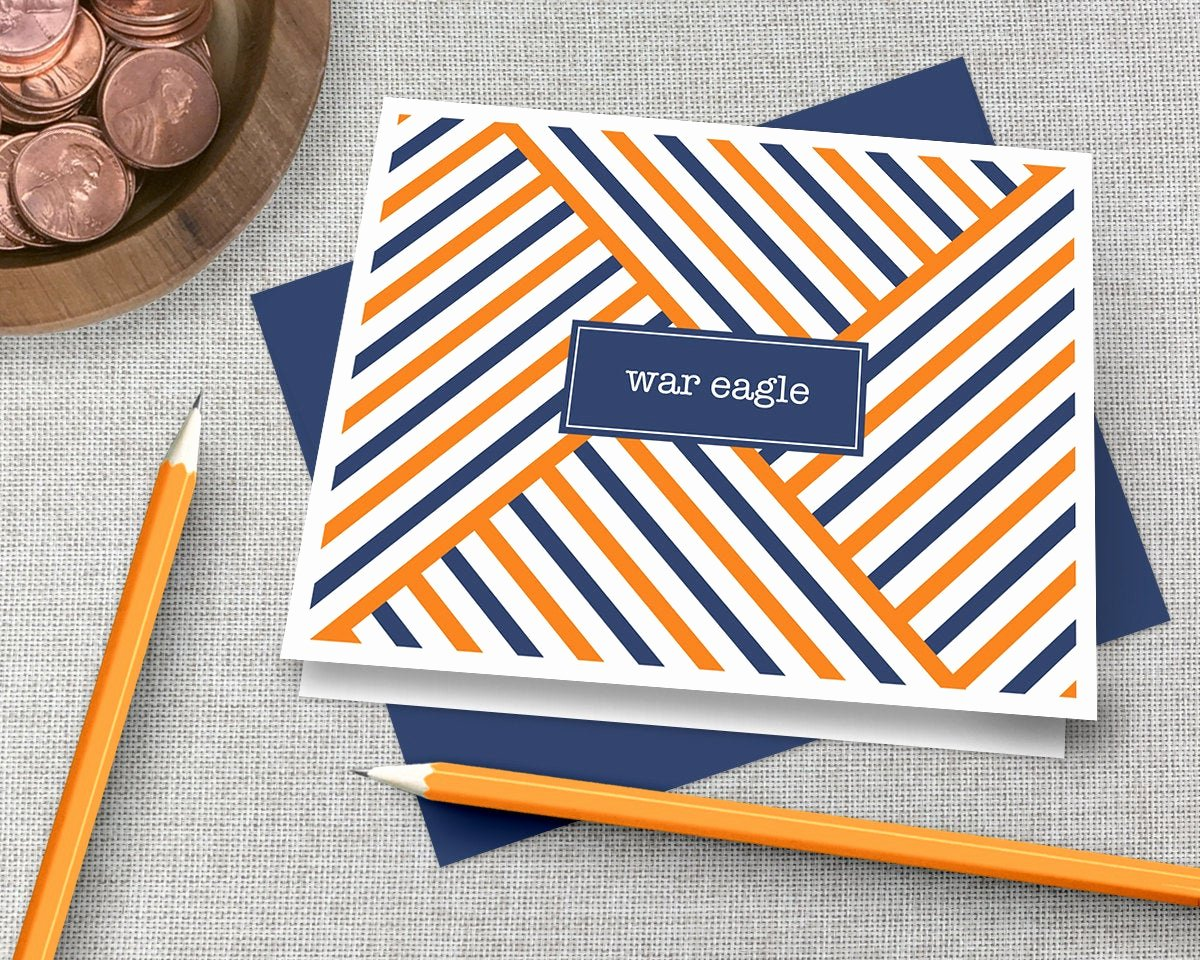 Graduation Present Thank You Note Inspirational Auburn Thank You Note Cards War Eagle Graduation Gift War
