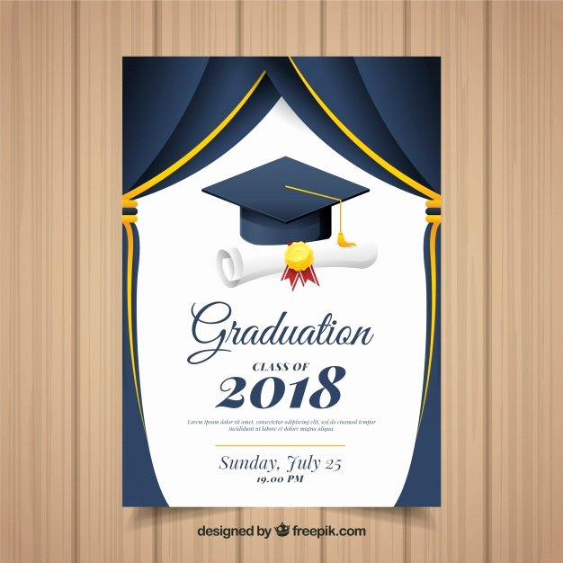 Graduation Program Template Word Elegant Graduation Ceremony Vectors S and Psd Files
