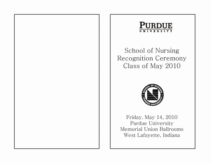 Graduation Program Template Word Elegant Nursing Graduation Program Template Google Search