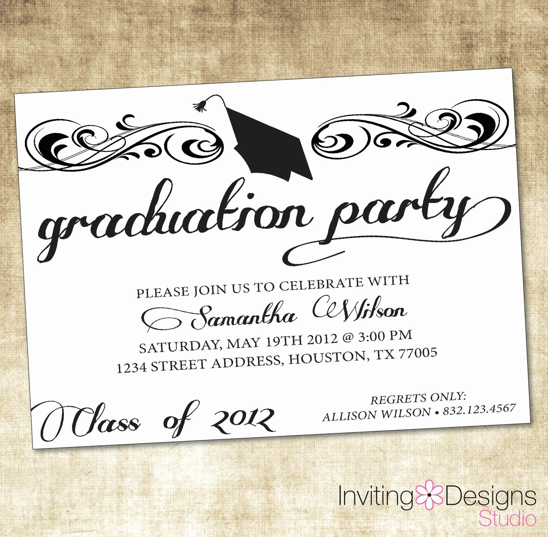 Graduation Program Template Word Fresh Free Graduation Invitation Templates Free Graduation
